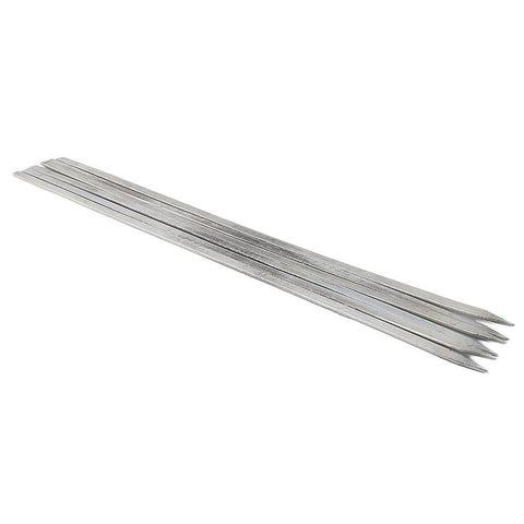 "BBQ Skewers (Seekh) 6 Pcs 18"" - Silver - test-store-for-chase-value"