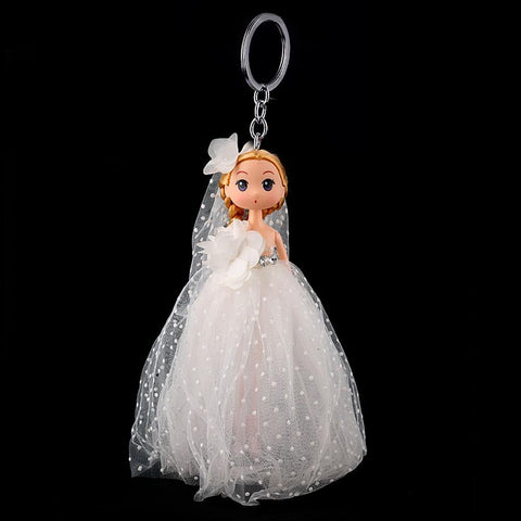 Doll Keychain - White - test-store-for-chase-value