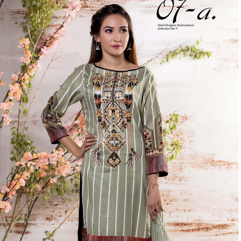 Sahil Embroidered Lawn Suit Vol-7 - 7A - test-store-for-chase-value