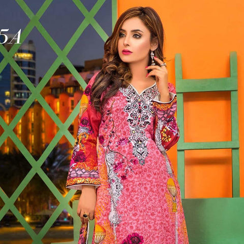 Moonsoon Summer Embroidered Lawn Suit - 5A - test-store-for-chase-value