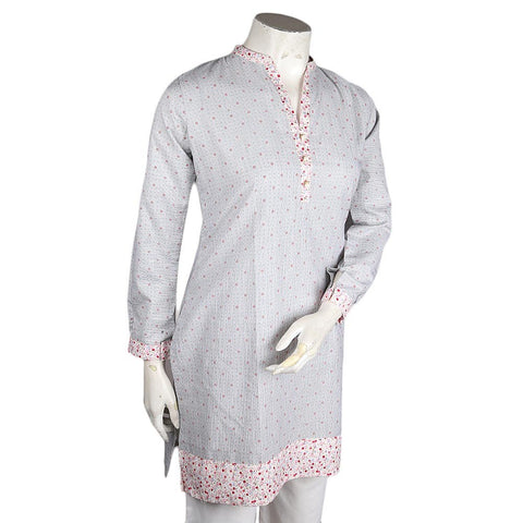 Women's Cotton Kurti - Light Grey - test-store-for-chase-value