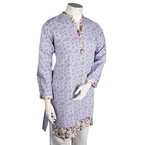 Women's Cotton Kurti - Light Blue - test-store-for-chase-value