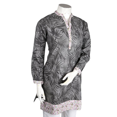 Women's Cotton Kurti - Grey - test-store-for-chase-value