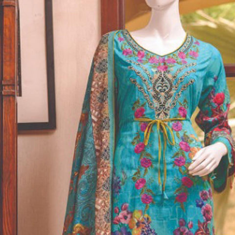 Chase Value Centre Embroidered Lawn Suit - 2A - test-store-for-chase-value