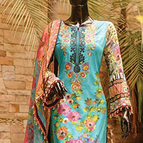 Chase Value Centre Embroidered Lawn Suit - 5A - test-store-for-chase-value