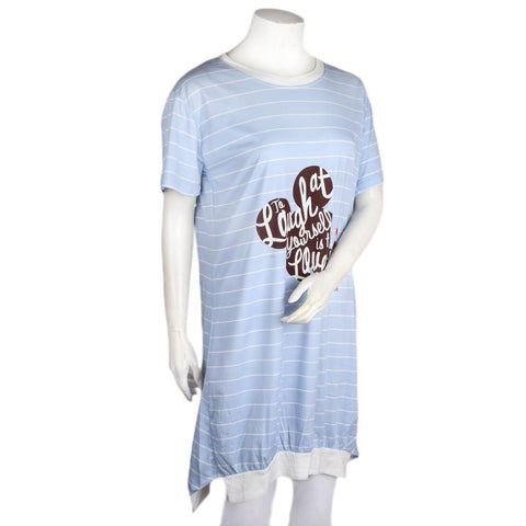 Women's Night Top - Light Blue - test-store-for-chase-value