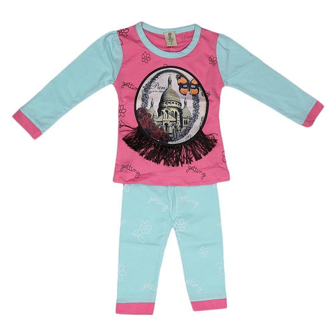 Newborn Girls Printed Suit - Pink - test-store-for-chase-value