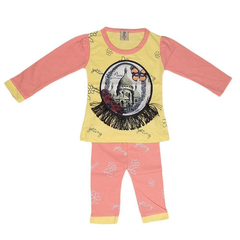 Newborn Girls Printed Suit - Yellow - test-store-for-chase-value