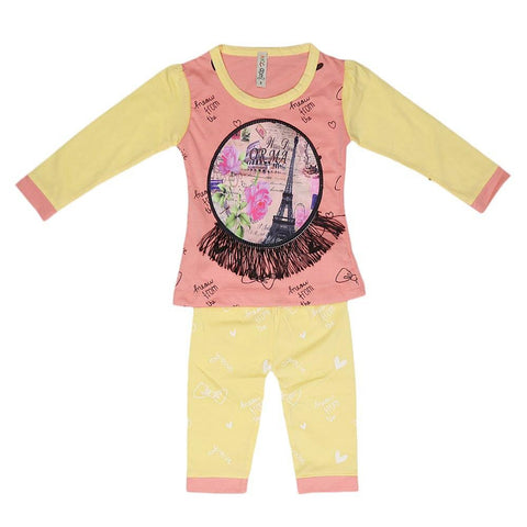Newborn Girls Printed Suit - Peach - test-store-for-chase-value