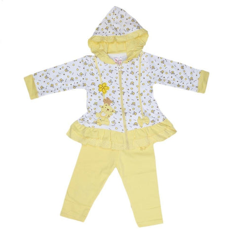 Newborn Girls Hooded Suit - Yellow - test-store-for-chase-value
