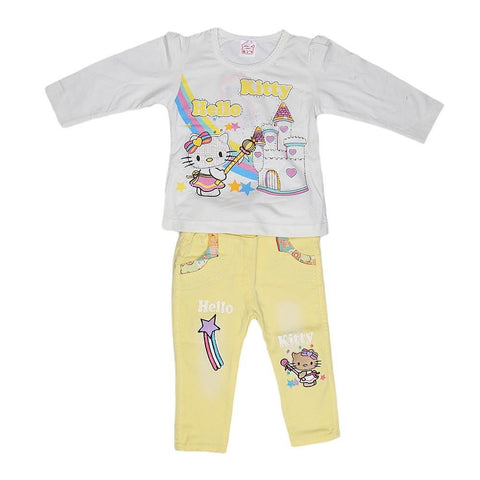 Newborn Girls Full Slevees Suit - White - test-store-for-chase-value