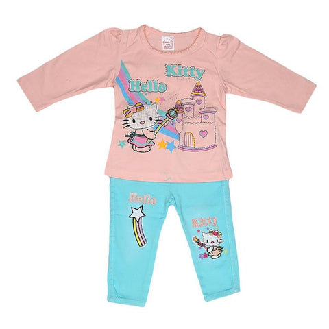 Newborn Girls Full Slevees Suit - Peach - test-store-for-chase-value