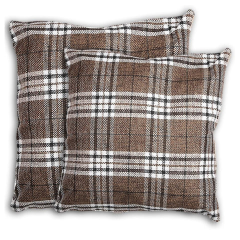Floor Cushion Covers 2 Pcs Set - Brown - Coffee - test-store-for-chase-value