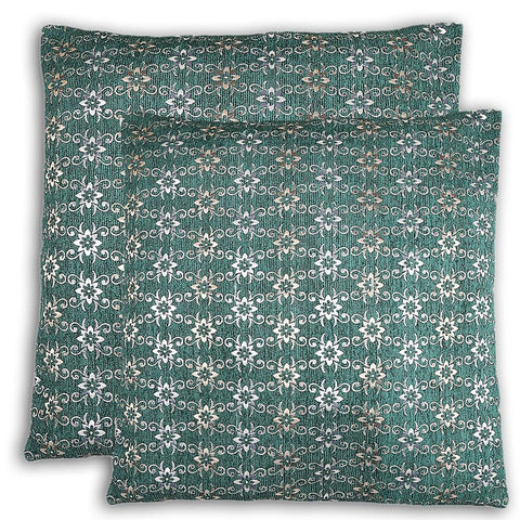 Floor Cushion Covers 2 Pcs Set - Green - test-store-for-chase-value