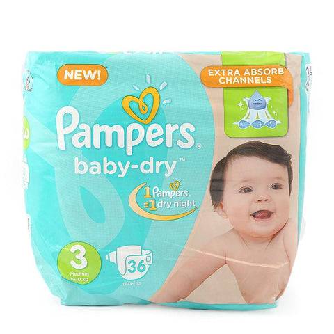 Pampers Jumboo Pack 3Midi 36 Pcs - test-store-for-chase-value