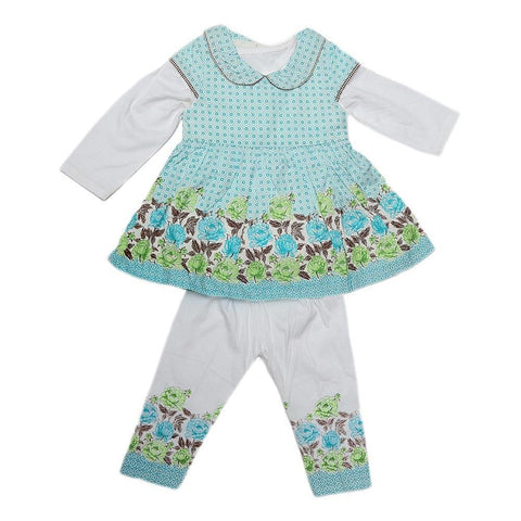 Newborn Girls Full Sleeves Suit - Light Blue - test-store-for-chase-value