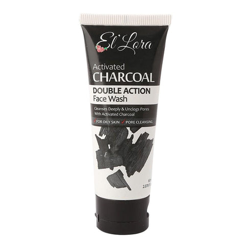 El'Lora Double Action Charcoal Face Wash 60ml - test-store-for-chase-value