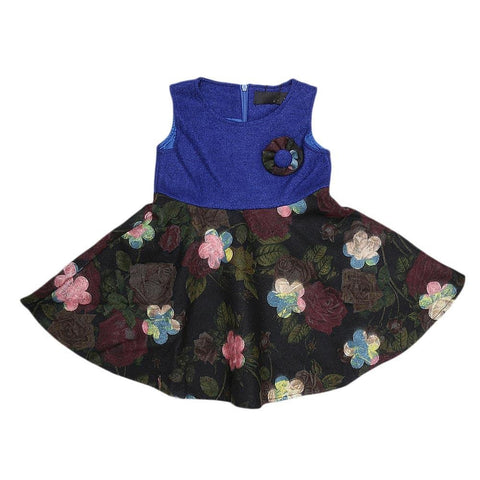 Girls Eminent Woven Frock - Blue - test-store-for-chase-value