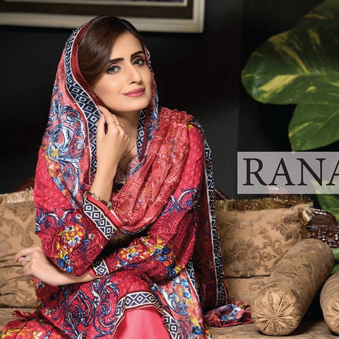 Rana Arts Camellias Viscose Embroidered 3 pcs Suit - A C-204 - test-store-for-chase-value