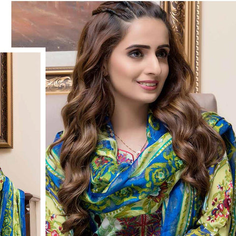 Rana Arts Camellias Viscose Embroidered 3 pcs Suit - B AY-214 - test-store-for-chase-value