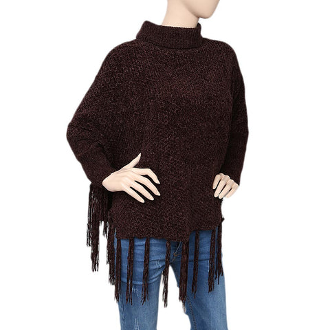 Women's Long Sweater - Coffee - test-store-for-chase-value