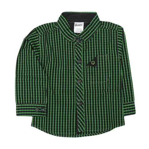 Newborn Boys Check Shirt - Green - test-store-for-chase-value