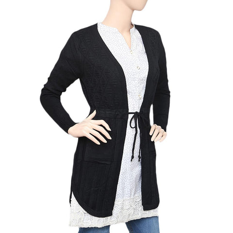 Women's Long Sweater - Black - test-store-for-chase-value