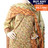 Women's Printed Khaddar 3 Pcs Un-Stitched Suit - 16