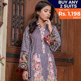 Libas Printed Lawn 3 Piece Un-Stitched Suit Vol 1 - 12 A