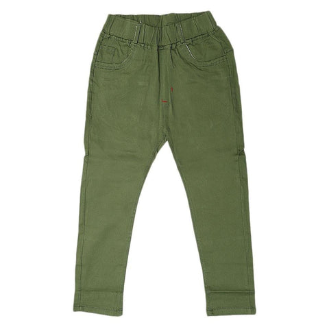 Boys Cotton Pant - Green - test-store-for-chase-value