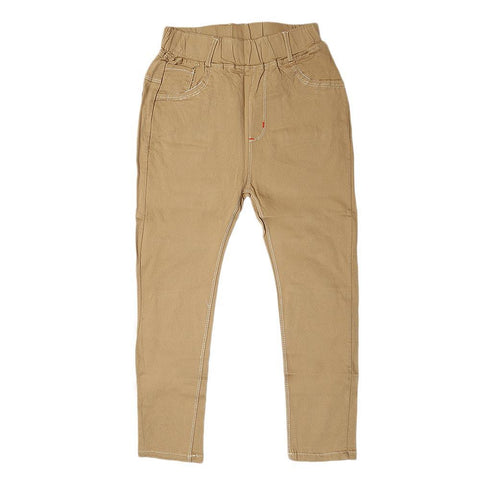 Boys Cotton Pant - Camel - test-store-for-chase-value