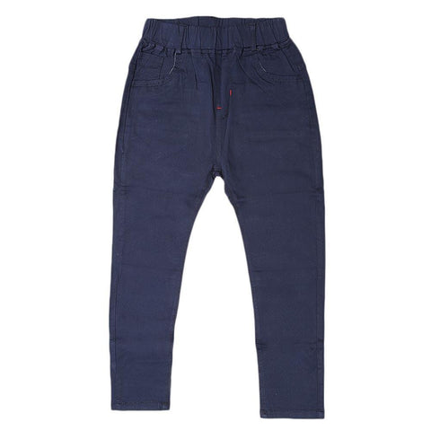 Boys Cotton Pant - Navy Blue - Navy/Blue - test-store-for-chase-value