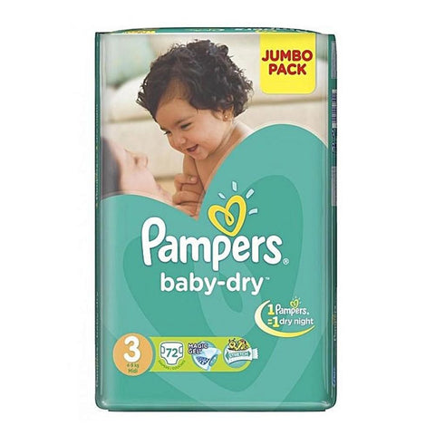 Pampers Mega Pack 3 Midi 72 Pcs - test-store-for-chase-value