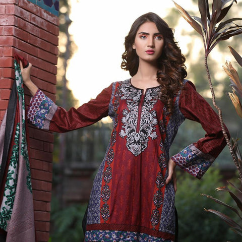 Rangreza Printed Cotton 3 Piece Unstitched Suit Vol-3 - 12 - test-store-for-chase-value