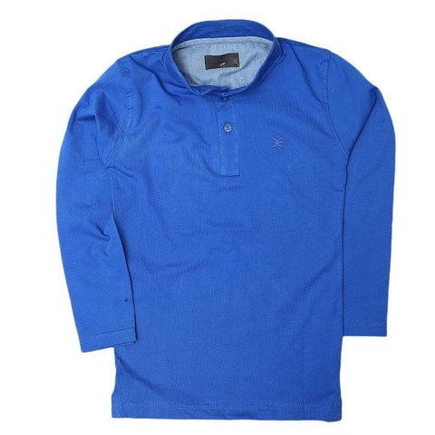 Boys Eminent Full Sleeves T-Shirt - Royal Blue - test-store-for-chase-value