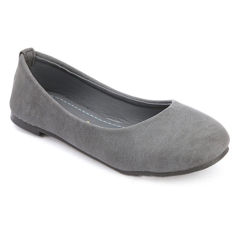 Girls Fancy Pumps  (1718) - Grey
