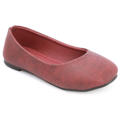 Girls Fancy Pumps  (1718) - Maroon