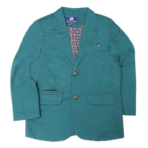 Boys Casual Coat - Dark Green - test-store-for-chase-value