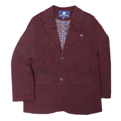 Boys Casual Coat - Maroon - test-store-for-chase-value