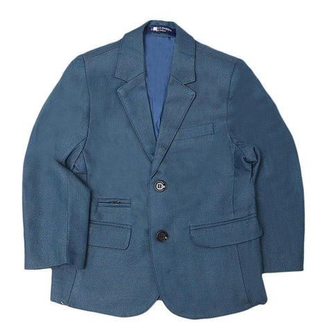 Boys Casual Coat - Steel Blue - test-store-for-chase-value