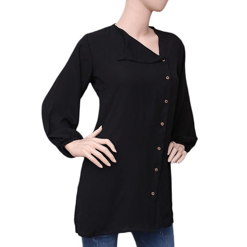 Women's Georgette Shirt - Black - test-store-for-chase-value