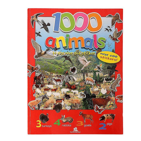 1000 Animals To Discover & Sticker Book For Kids - test-store-for-chase-value