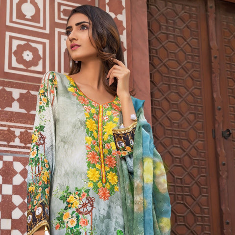 Wijdan Rang Jee Digital Embroidered Unstitched 3 Piece Viscose Suit - 07 - test-store-for-chase-value