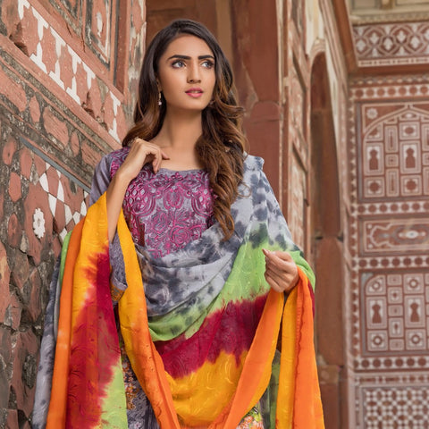 Wijdan Rang Jee Digital Embroidered Unstitched 3 Piece Viscose Suit - 11 - test-store-for-chase-value