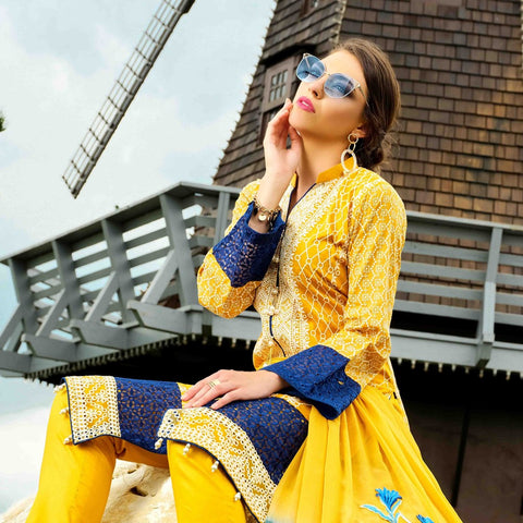 Tawakkal Fashion Expedition Cotton Embroidered Semi-Stitched Suit - 4132 - test-store-for-chase-value