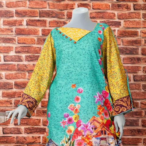 Eminent Digital Printed Khaddar Unstitched Winter Kurti - Demon - test-store-for-chase-value