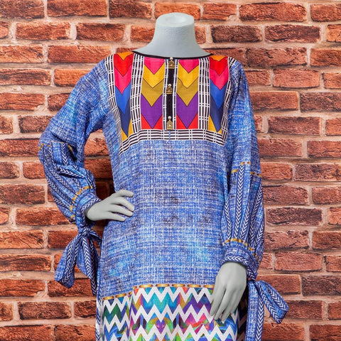 Eminent Digital Printed Khaddar Unstitched Winter Kurti - Texture - test-store-for-chase-value