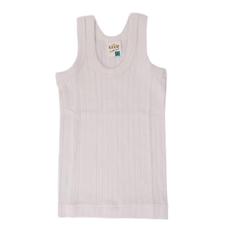 Lily Boys Vest Sando - White - test-store-for-chase-value