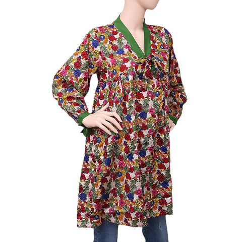 Women's Printed Khaddar Kurti - Multi - test-store-for-chase-value