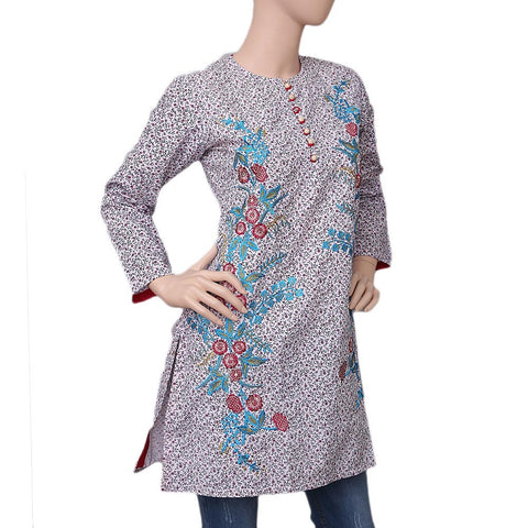 Women's Embroidered Cotton Kurti - Multi - test-store-for-chase-value
